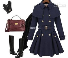 Wholesale new monde slim women's coats women's trench coats women's coats Women Outwear Cape-style woolen coat, Free shipping, $54.72/Piece | DHgate Mobile