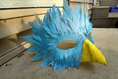 Masque oiseau bleu