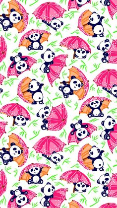pandas BIG fabric by thelazygiraffe on Spoonflower - custom fabric - check out coordinating bamboo fabric Cute Panda Wallpaper, Bear Wallpaper, Cute Wallpaper Backgrounds, Animal Wallpaper, Love Wallpaper, Pattern Wallpaper, Iphone Wallpaper, Fabric Wallpaper, Cellphone Wallpapers