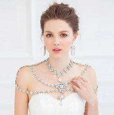 Pearl and Rhinestone Jewelry Wedding Dress Shoulder Wedding Dress