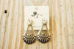 Aztec Etched Earrings