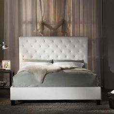 White tufted bed <-- I am thinking about getting this bed