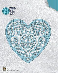 Wykrojnik Nellie's Choice SGD003 - Fantasy heart