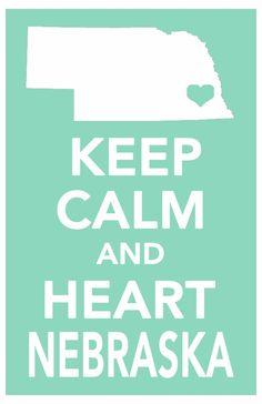 nebraska keep calm decor print art poster all 50 states in custom background colors 11x17