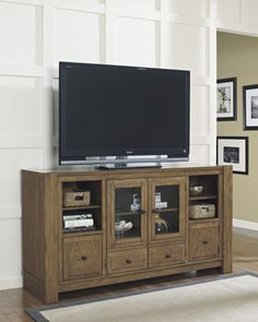 We Love The Light Wash On This Entertainment Unit! #tvstand #wewantone # Furniture