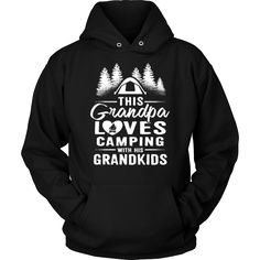 """This Grandpa Loves Camping With His Grandkids"" Shirts and Hoodies"