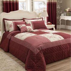 Gardenia Red Bedding Set - Casafina