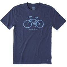Men's Mobile Device Bike Crusher Tee | Life is Good® Official Site