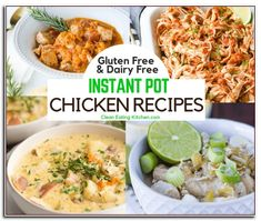 Enjoy this round-up of Instant Pot Chicken recipes, all gluten free and dairy free. Find recipes for chicken breasts and other healthy, simple recipes. Chicken Recipes Video, Healthy Chicken Recipes, Healthy Dinner Recipes, Diet Recipes, Simple Recipes, Whole30 Recipes, Vegan Recipes, Healthy Work Snacks, Easy Healthy Breakfast