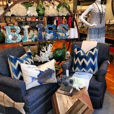"""Sisters Kallie and Lindsay opened @Juxtapose Apparel & Studio in Hyde Park Village, Tampa to pair upbeat but opposing styles: """"We love to show how things can be mixed and matched. Our style is eclectic with coastal influence, traditional meets contemporary, and eccentric turned conventional."""" #LiveLocal"""