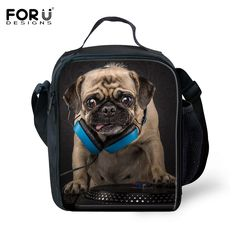 2016 Hot Sale Children Lunch Bags Cute Animals Dog Pet Cat Printing Lunchbox Lancheira Kids Picnic Thermal Insulated Food Bag