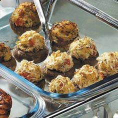 Crab-Stuffed Mushrooms Recipe from Taste of Home -- shared by Tonya Farmer of Iowa City, Iowa