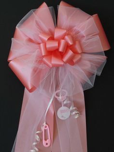 It's a Girl Bow Pink Baby Girl Shower Bow for Indoor /outdoor decorations