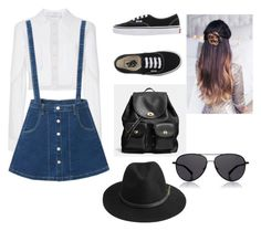 """""""School"""" by c3a3n3d3y3 on Polyvore featuring Carolina Herrera, Vans, Coach, The Row and BeckSöndergaard"""