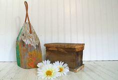 Vintage Chippy Paint Solid Wood Well Worn Mooring by DivineOrders, $38.00