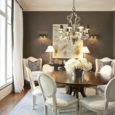 Round Back Dining Chairs, French, dining room, Dodson and Daughter Interior Design