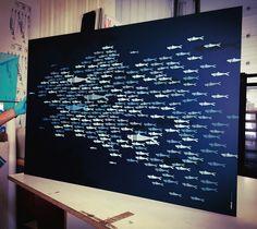 Sortie d'atelier :  Voyez-vous la Bretagne ? Find the map of Brittany • Commande œuvre en relief sur aluminium • Format 150x100 cm - 1/5 ex • Création et fabrication Bretonne. Art Design by © Ollivier Fouchard 2017
