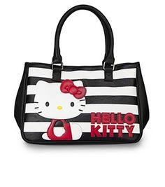 Hello Kitty Black White Stripe With Red Kitty Bag Hello Kitty Items, Sanrio  Hello 29cae5a207