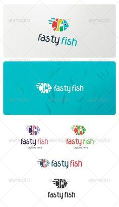 Fasty Fish Logo - Animals Logo Templates