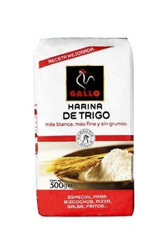 0,54€ - Pasta seca gallo harina paquete 500gr. especial para BIZCOCHOS, PIZZA, SALSA, FRITOS