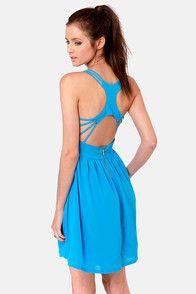 Strappy Days Blue Dress