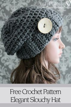 Free Crochet Pattern - An elegant crochet slouchy hat pattern that's quick and fun to make! By Posh Patterns.