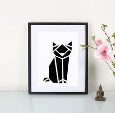 Artprint / Origami / Katze