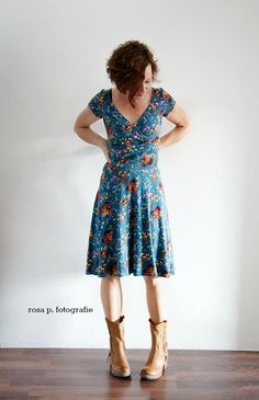 me made mittwoch :: lisette and me für Baby Club Dresses, Dresses For Work, Summer Dresses, Vintage Street Fashion, Couture Sewing, Women's Summer Fashion, I Dress, Dress Patterns, African Fashion