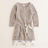 crewcuts shimmer sweater dress