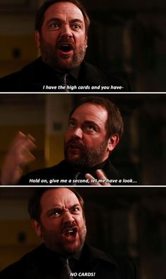 11x18 Hell's Angel //Crowley: I have the high cards and you have- hold on, give me a second, let me have a look... No cards!!!
