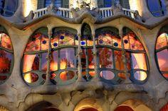 Antonio Gaudi's Casa Batlló in Barcelona. 1902-1906.