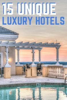 15 unique luxury hotels for unforgettable holiday Unique Hotels, Beautiful Hotels, Luxury Hotels, Hotels And Resorts, Luxury Travel, Best Hotels, Travel Usa, Travel Goals, Travel Advice