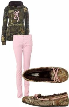 Pink+camo=really cute outfit