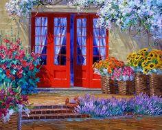 Mikki Senkarik 1954 | American Plein-air painter | A Touch of Greece