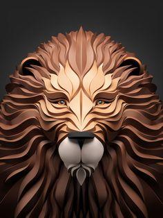 Le Lion - Geometric Predators est une série impressionnante de portraits d'animaux surréalistes crée par l'artiste designer russe Maxim Shkret. Il utilise à merveille la 3D avec les logiciels 3DS Max, V-Ray, ZBrush et Adobe CSS.