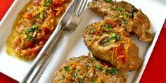 Osso Buco à la milanaise Thing 1, Bruschetta, Parmesan, Baked Potato, Potatoes, Meat, Chicken, Baking, Ethnic Recipes