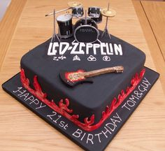 cool idea for a rocker cake #cake #design #love #beautiful #sweet #cool #delicious #rock #music