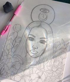 how to draw female Art Drawings Sketches, Cute Drawings, Arte Sketchbook, Art Hoe, Dope Art, Oeuvre D'art, Art Inspo, Painting & Drawing, Amazing Art