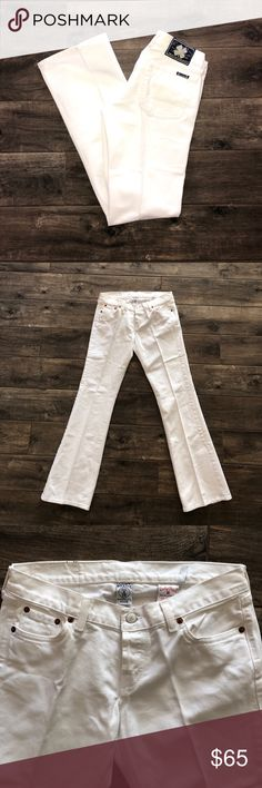 "Lucky Brand White Jeans NWOT!!                                                                    Measurements:                                                                     Waist: 14.5""                                                                                  Rise 7.5""                                                                                       Hip 19.5""                                                                                Inseam 31.5"" Outseam 39.5"" Lucky…"