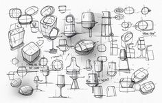 Mixed-media industrial design sketching