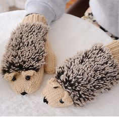 Cozy hedgehog mittens that are basically just made to cuddle with your hands.