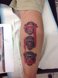 Three wise monkeys tattoo