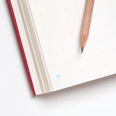 """Best Made Company — Famous Red Notebook, 5.25""""w x 8.25""""h, 1/2"""" square light blue dot pages, 160 pages (numbered & perforated), 100lb covers with 3.5"""" French flaps, 60lb interior paper, acid-free. Made in Canada"""