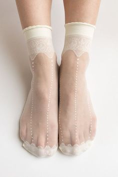 6ee738306 Women New Hezwagarcia HOT Sheer Crwon Cover Lace See Through Casual Ivory  Ankle Socks Stocking Hosiery