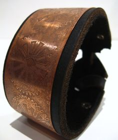 copper leather cuff Nice and Pretty +dreadstop @DreadStop