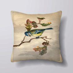 Bird On A Branch  Customizeable Personlized   Cushion by foxyNfoxy