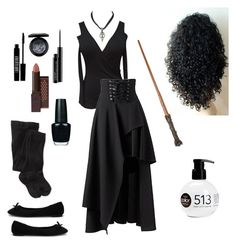 A fashion look from August 2016 featuring Smartwool socks and Nly Shoes flats. Browse and shop related looks. Costume Halloween, Diy Costumes, Cosplay Costumes, Costume Ideas, Halloween Party, Bellatrix Lestrange Kostüm, Belatrix Lestrange, Bellatrix Costume, Hermione Granger Costume