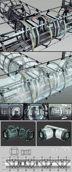 ArtStation - Alien Isolation_Environment Concepts, Brad Wright