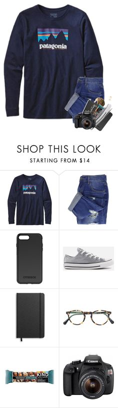 """""""softball tryouts day 3"""" by lanegrahamm ❤ liked on Polyvore featuring Patagonia, OtterBox, Converse, Shinola, Oliver Peoples, Eos and Madewell"""