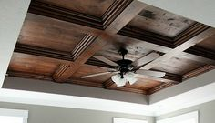 Coffered ceiling DIY #tutorial  Beautiful! REALLY! A Tutorial??? - gotta check this out!